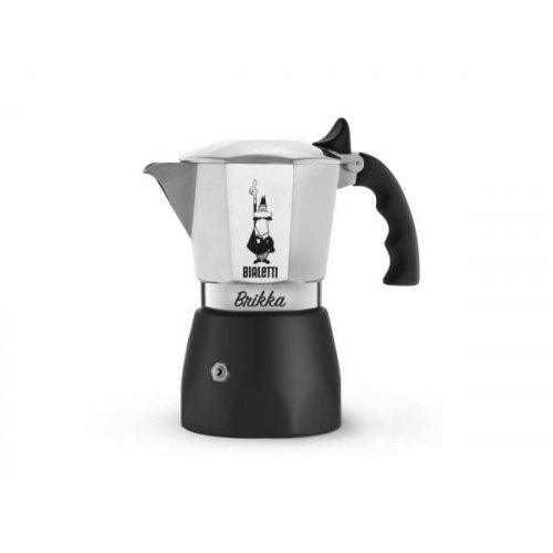 BIALETTI BRIKKA Καφετιέρα Espresso με Μηχανισμό για Καϊμάκι 2 Μερίδων (New Model) (0006782)