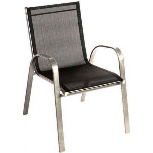 FYLLIANA 341-15-038 Καρέκλα Textline Steel Μαύρη 0007081