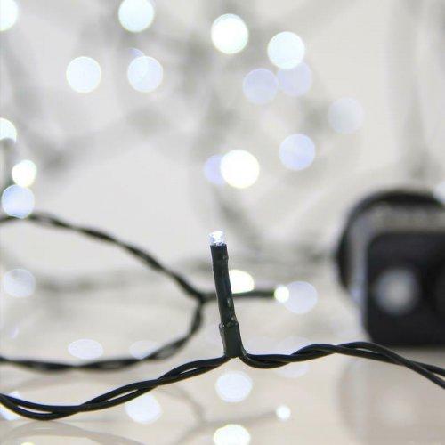 EUROLAMP 600-11530 240 Χριστουγεννιάτικα Λαμπάκια Λευκό LED ανά 5εκ. IP44 σε Σειρά με Πρόγραμμα 0011032