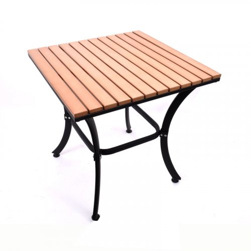 FYLLIANA PΤ-804 624-17-007  Τραπέζι Τετράγωνο Καφέ Polywood 60*60*65εκ.