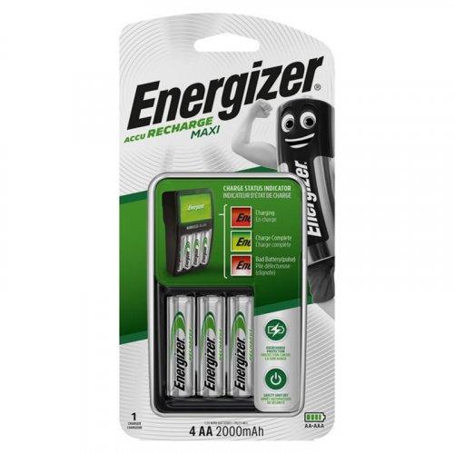 ENERGIZER MAXI CHARGER & 4xAA Φορτιστής μπαταριών με 4 επαναφορτιζόμενες μπαταρίες ΑΑ 2000mAh 0013282