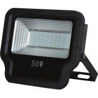 EUROLAMP 147-69533 Προβολέας LED SMD 50W IP65 85-265V 6500K Μαύρος PRO