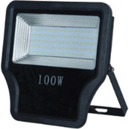 EUROLAMP 147-69553 Προβολέας LED SMD 100W IP65 85-265V 6500K Μαύρος PRO