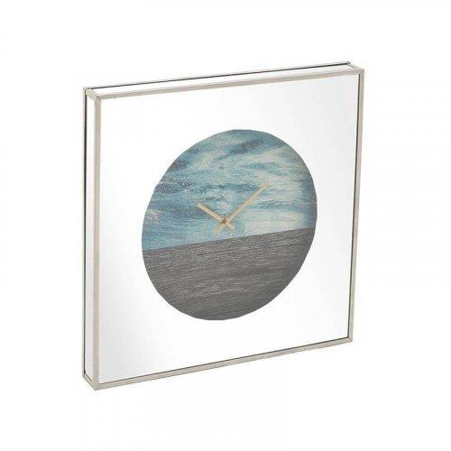 INART 3-20-893-0001 Ρολόι Τοίχου Με Καθρέπτη Ξύλινο 45χ5χ45 εκ.