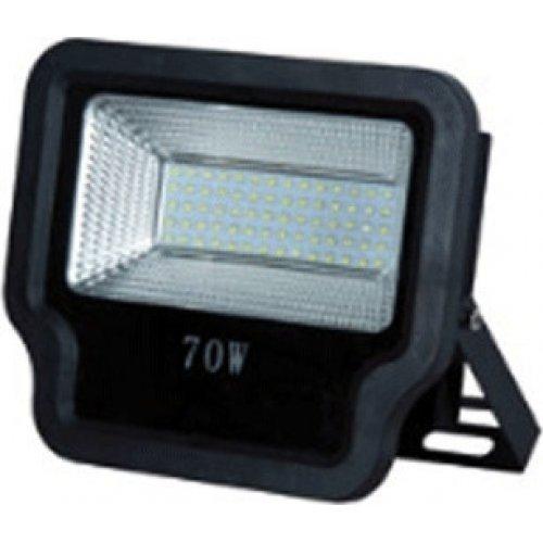 EUROLAMP 147-69543 Προβολέας LED SMD 70W IP65 85-265V 6500K Μαύρος PRO