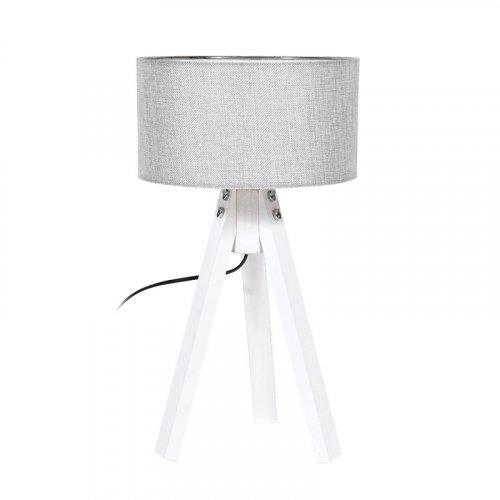 FYLLIANA 835-91-089 Επιτραπέζιο Φωτιστικό Τρίποδο Γκρι Καπέλο Με Λευκή Βάση 25χ45,5εκ 0018021