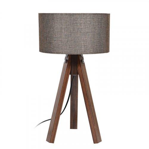 FYLLIANA 835-91-090 Επιτραπέζιο Φωτιστικό Τρίποδο Καφέ Καπέλο Με Καφέ Βάση 25χ45,5εκ 0018022