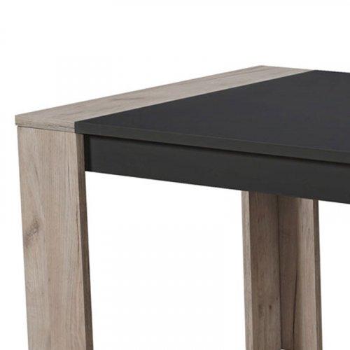FYLLIANA 11007455 Τραπέζι Τραπεζαρίας Cremona 155x90 Grey Oak-Μαύρο 154χ90.5χ75εκ.