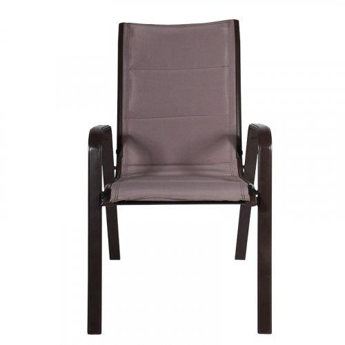 FYLLIANA 378-91-003 Καρέκλα Εξοχής Καφέ Αδιάβροχο Ύφασμα Steel 68,5x56x94εκ.