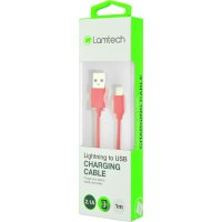 LAMTECH LAM445134 DATACABLE iPhone 5/6/7 1m (non MFi) -RED 0018242