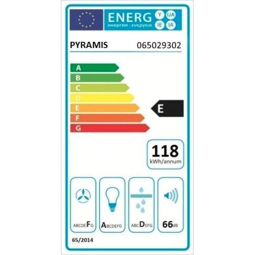PYRAMIS 065029302 Απλός με Μεταλλικά Φίλτρα 60cm Λευκός 0018302
