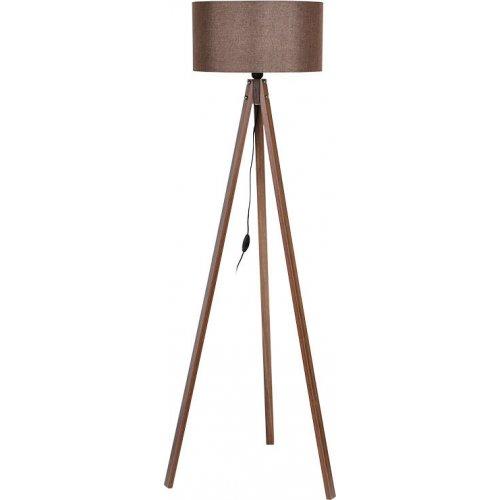 FYLLIANA 835-91-087 Φωτιστικό Δαπέδου Τρίποδο Καφέ Καπέλο Με Καφέ Βάση 40χ150εκ 0018320