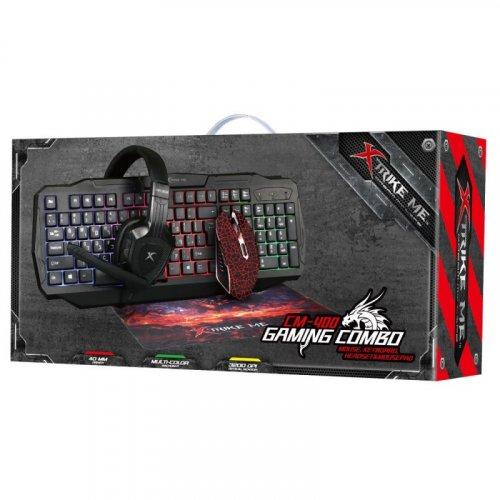 XTRIKE-ME CM-400 Ενσύρματο Set Gaming Πληκτρολόγιο + Ποντίκι + Headset + Mousepad 0018355
