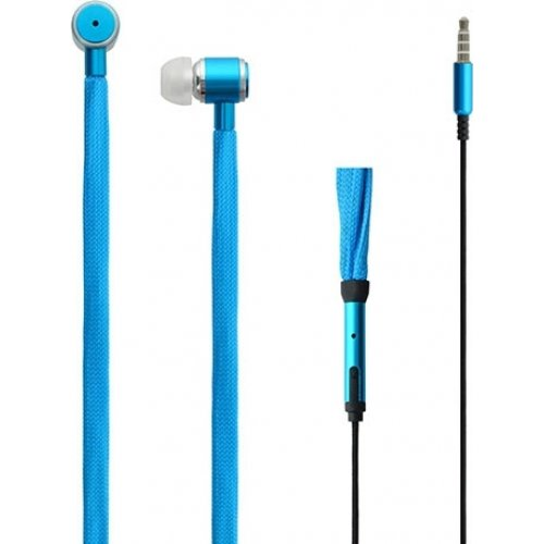 LAMTECH LAM020328 Shoelace Music Earphones 3,5mm Jack Blue 0018357