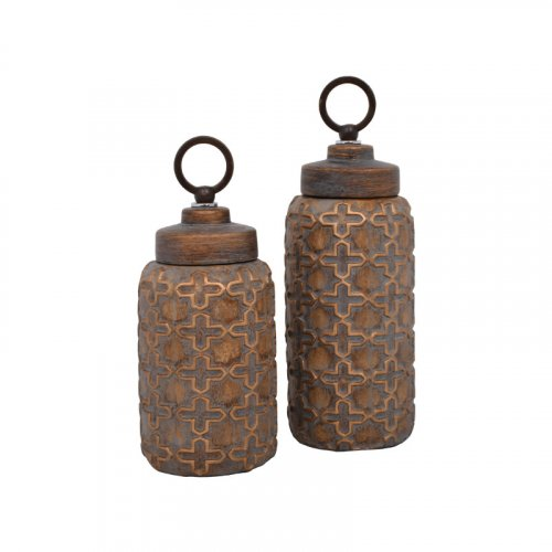 ETIQUETTE 1-373-92-209 Κεραμικό Βάζο Με Καπάκι 13χ13χ36εκ.