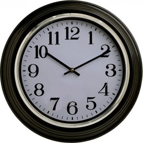 INART 3-20-385-0055 Ρολόι Τοίχου PL Μαύρο/Λευκό Δ40,5χ7 εκ.