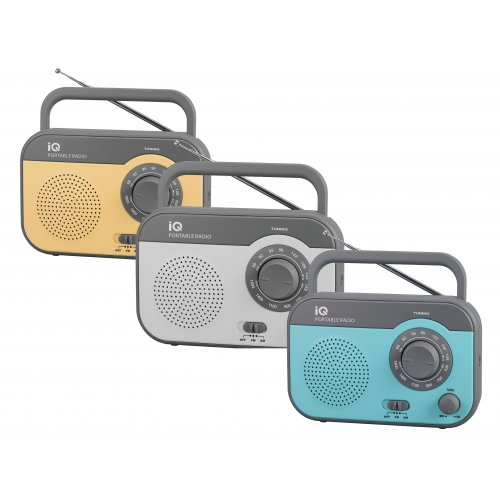 IQ PR-139 Φορητό Αναλογικό Ραδιόφωνο FM/AM Γκρι 0018679