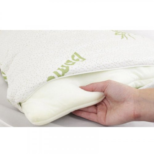 HERZBERG HG5076BM Μαξιλάρι Bamboo Luxury Memory Foam Royalty Comfort Queen 0019167