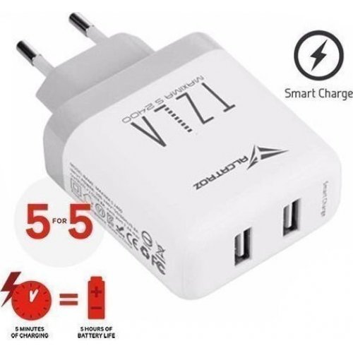ALCATROZ S2400W Quick Charger 5 For 5 Maxima White 0019187