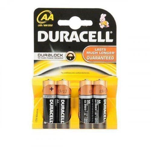 DURACELL Αλκαλικές Μπαταρίες AA R6 4 τμχ 0019237