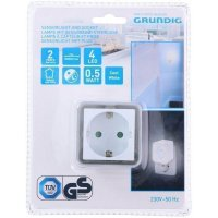 GRUNDIG 05333 Φωτάκι Νυκτός 4 LED Λευκό 0019243