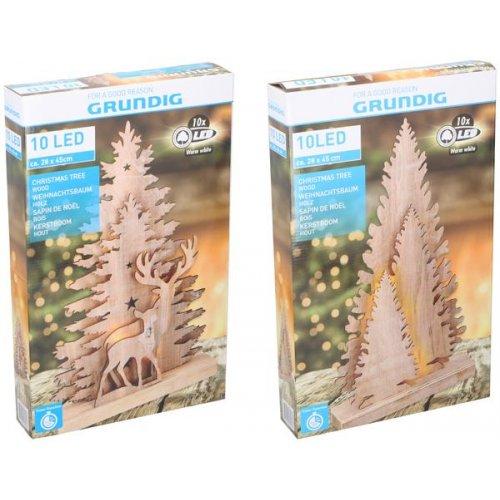 GRUNDIG XMAS Δέντρα Χριστουγεννιάτικα 10 LED 3τεμ