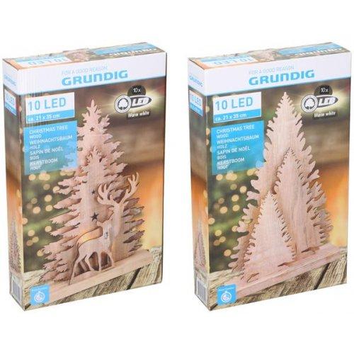 GRUNDIG Δέντρα Χριστουγεννιάτικα 10 LED 3τεμ