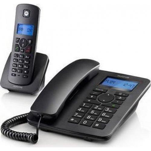 MOTOROLA COMBO C4201 Ασύρματο & Ενσύρματο Τηλέφωνο Μαύρο 0019502