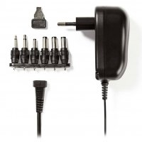 NEDIS ACPA001 Universal Τροφοδοτικό Switching 12W με Συμπαγή Σχεδιασμό Έξοδο 3-12V και Ενδεικτική Λυχνία LED