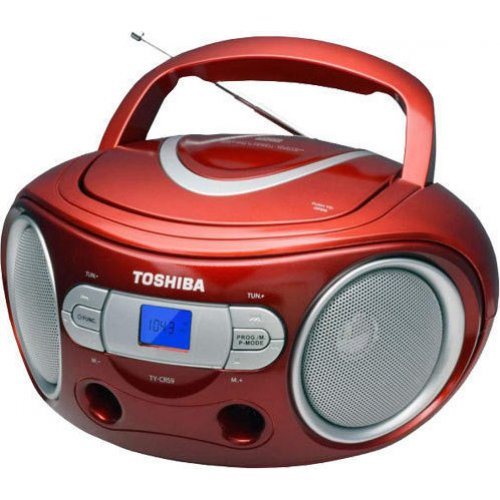 TOSHIBA TY-CRS9-RED Audio Portable CD Boombox Red 0019595