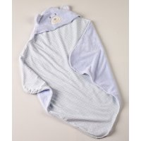 KENTIA Rocco 19 Βρεφική Κουβέρτα Αγκαλιάς Με Κουκούλα Flannel Fleece