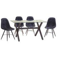 FYLLIANA Α282-610-8 618-16-002 Καρέκλα Καφέ/Sonoma Πόδια