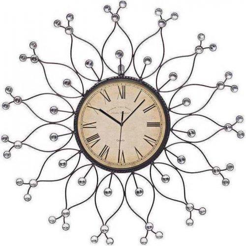 INART 3-20-207-0005 Ρολόι Μεταλλικό Με Διάφανες Πέτρες Δ60εκ.