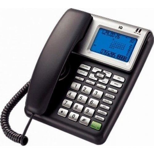 IQ DT-860 CID Ενσύρματο Τηλέφωνο  Με Αναγνώριση  Κλήσης Μεταλλικό 0020369