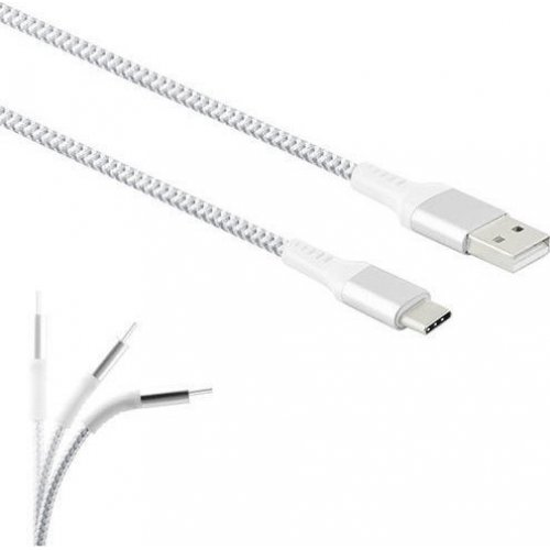 LAMTECH LAM450299 TYPE-C V2,0 HIGH QUALITY UNBREAKABLE CABLE SILVER