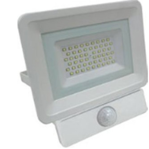 EUROLAMP 147-69456 Προβολέας LED SMD Με Ανιχνευτή Κίνησησς Plus 50W Λευκός IP65 6500K Plus 0020767