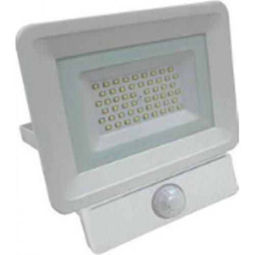 EUROLAMP 147-69456 Προβολέας LED SMD Με Ανιχνευτή Κίνησησς Plus 50W Λευκός IP65 6500K Plus
