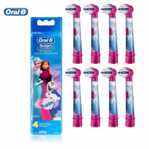 ORAL-B STAGES EB10-8 FROZEN Ανταλλακτικά Οδοντόβουρτσας 8ΤΜΧ 0020825