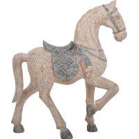 FYLLIANA 266-92-415 Διακοσμητικό Άλογο Μπεζ 37χ12χ45εκ. 0020948