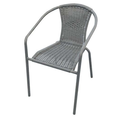 FYLLIANA 327-91-075  Καρέκλα Hutington Bistro Wicker Γκρι 53 x 65 x 72