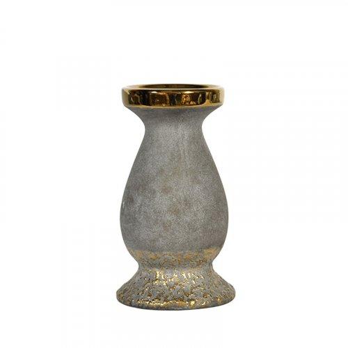 FYLLIANA 0024-91-081 Κεραμικό Κηροπήγιο Χρυσό 19,5εκ 12006