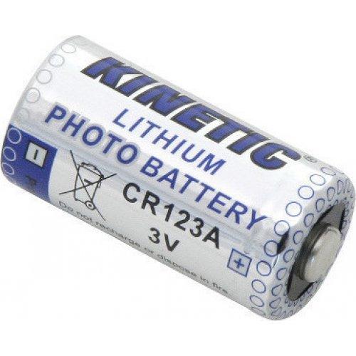 KINETIC CR123A Μπαταρία Λιθίου CR123A, 3V, για Φωτογραφικές Μηχανές, σε blister 1 Μπαταρίας 0021536