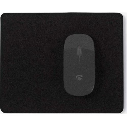 NEDIS MPADF100BK Mousepad Μαύρο, 18 x 22 cm
