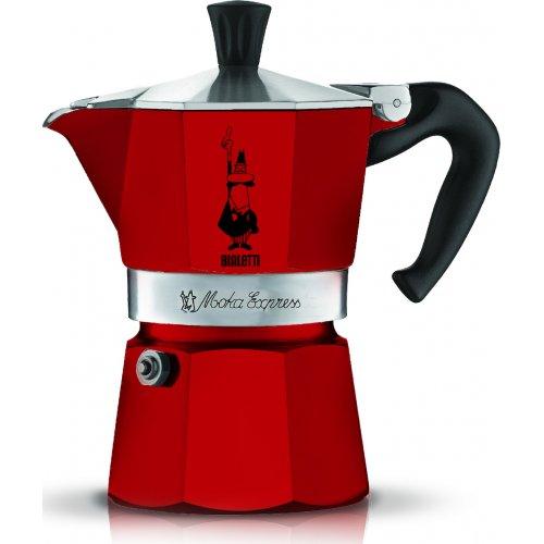 BIALETTI Moka Express Καφετιέρα Espresso 3 Μερίδων Κόκκινο  - Αλουμινίο (0004942)