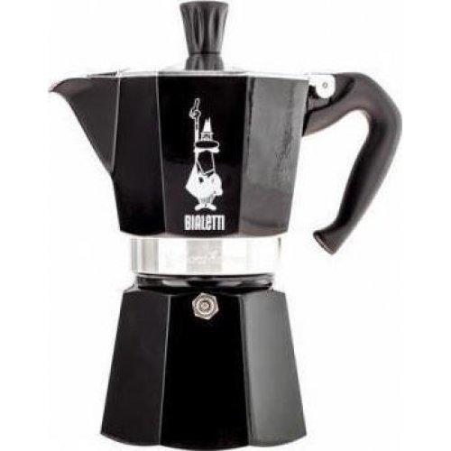 BIALETTI Moka Express Καφετιέρα Espresso 6 Μερίδων Μαύρο - Αλουμινίο (0004953)