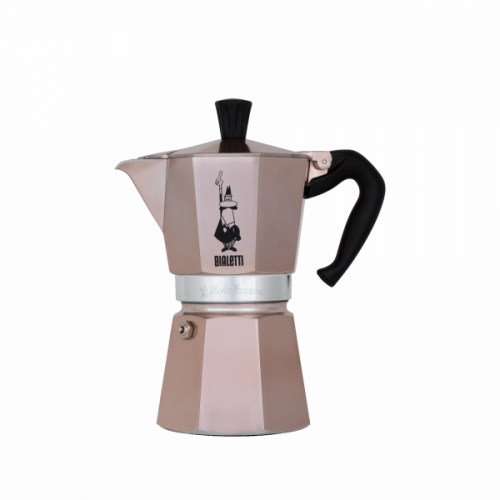 BIALETTI Moka Express Καφετιέρα Espresso 6 Μερίδων Rose Gold (RSG004)