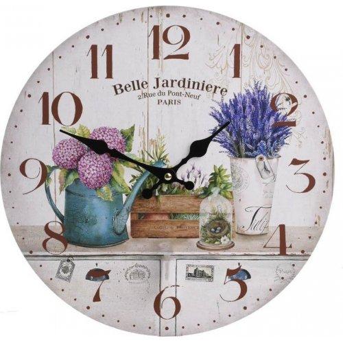INART 3-20-773-0277 Ρολόι Τοίχου Ξύλινο Εκρού Ποτιστήρι 34 x 4
