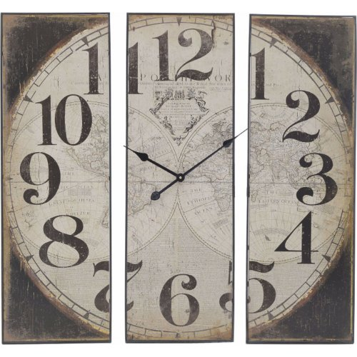 INART 3-20-773-0296 Ρολόι Τοίχου Ξύλινο / Μεταλλικό Άτλας (SM) 90 x 6 x 90