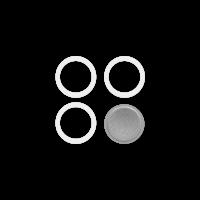 BIALETTI 8000001 Ανταλλακτικό Φίλτρο & 3 Φλάντζες για Moka 1 Μερίδων