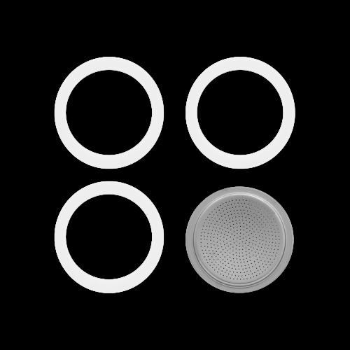 BIALETTI 8000005 Ανταλλακτικό Φίλτρο & 3 Φλάντζες για Moka 9 Μερίδων